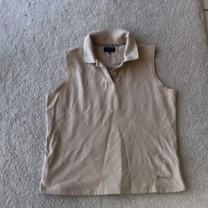 Cotton sleeveless top for golf or playtime